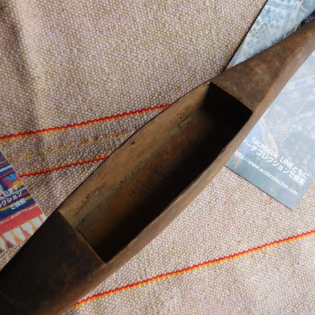 織り 織機 シャトル 杼 使用可 ストアーズno.6  70 g  全長42巾3.4高2.6 内径長9.2巾3.0深2.1cm shuttle 木製 オールド