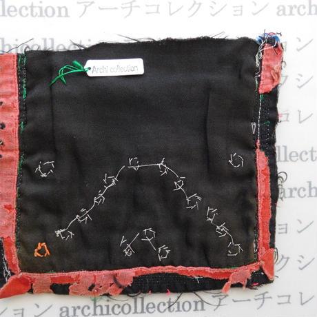 モン族の襟飾り no.50  15x14 cm  Hmong embroidery needlework はぎれ ラオス タイ