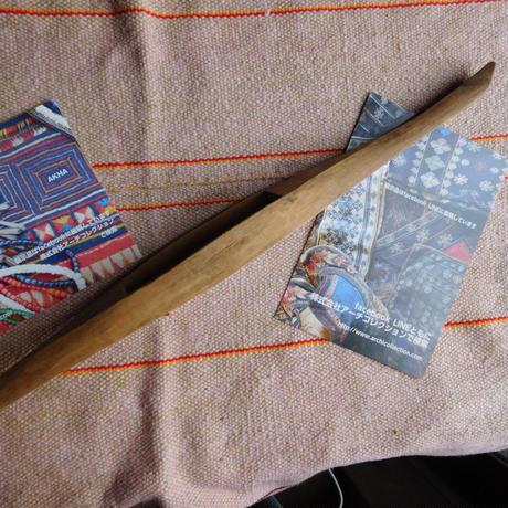 織り 織機 シャトル 杼 使用可 ストアーズno.25  60g  全長41巾3.8高2.6 内径長9.5巾3.3深1.8cm shuttle 木製 オールド