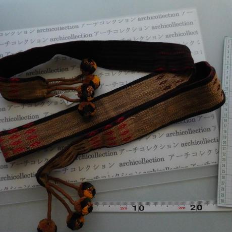 ナガ族のベルト布 no2M 172x5cm 綿 Naga tribe インド ミャンマー北部 India Nagaland ナガランド