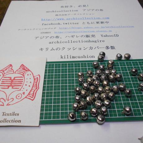 山岳民族 手芸用 鳴る鈴no.2  10 mm 10粒 銀色金属ビーズ アーチコレクション archicollection