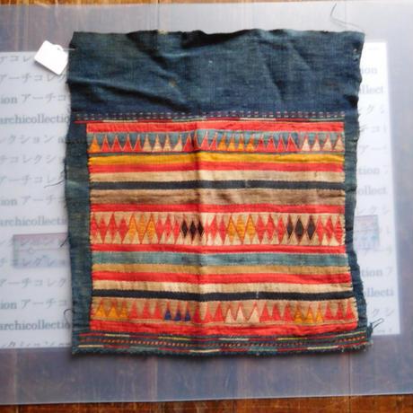 STORES アカ族 はぎれソックス脚絆NO. 8 30X33cm タイ ミャンマー北部山地岳 民族衣装 本物 手仕事 刺繍