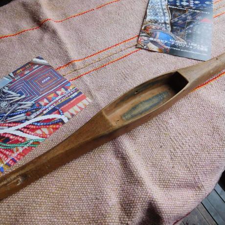 織り 織機 シャトル 杼 使用可 ストアーズno.1 70g  全長37巾3.4高2.5 内径長9.7巾3深1.9cm shuttle 木製 オールド