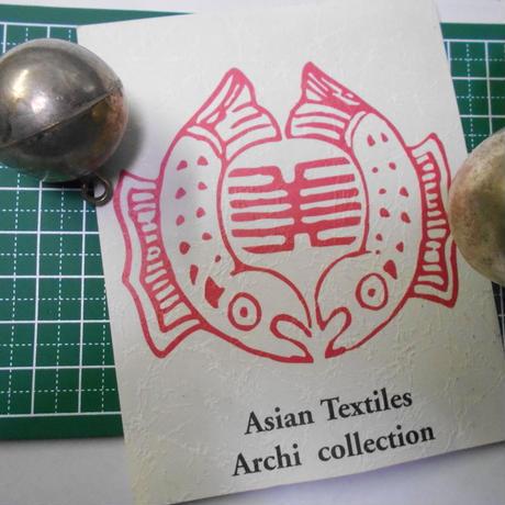 山岳民族 手芸用 銀玉 9g no.24  35x32 mm 1玉 925銀 金属ビーズ アーチコレクション archicollection