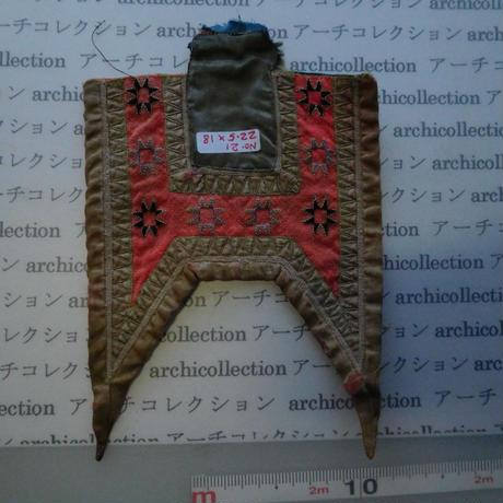 モン族の胸襟飾りWING型 no.21  22.5x18 cm  Hmong embroidery needlework はぎれ ラオス タイ