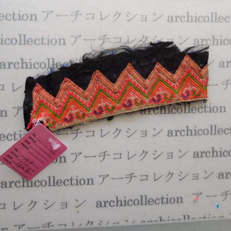 Hmong モン族 はぎれno.169 16x5 cm 刺繍布 古布 山岳民族 hilltribe ラオス タイ