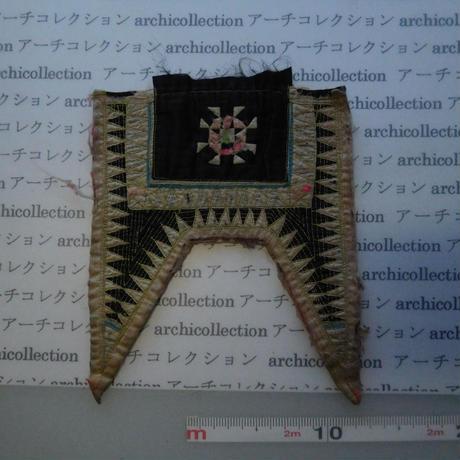 モン族の胸襟飾りWING型 no.23  22x20 cm  Hmong embroidery needlework はぎれ ラオス タイ
