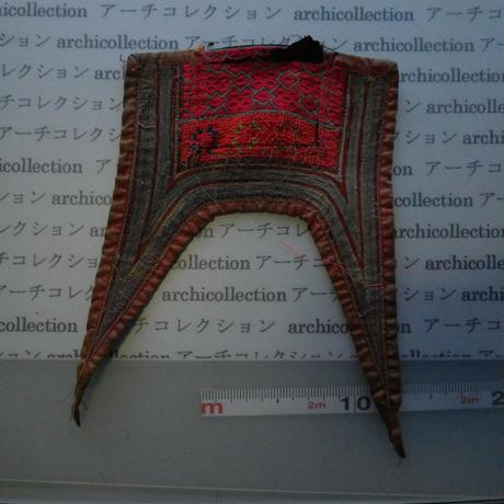 モン族の胸襟飾りWING型 no.18 26x18 cm  Hmong embroidery needlework はぎれ ラオス タイ