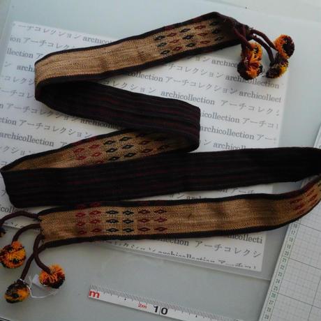 ナガ族のベルト布 no.3M 180x5.5cm 綿 Naga tribe インド ミャンマー北部 India Nagaland ナガランド