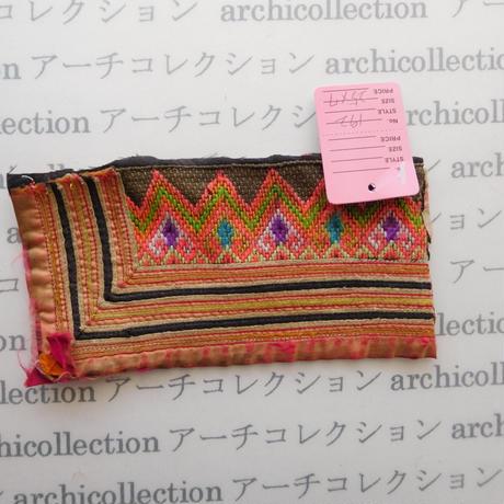 Hmong モン族 はぎれno.192  25x7 cm 刺繍布 古布 山岳民族 hilltribe ラオス タイ