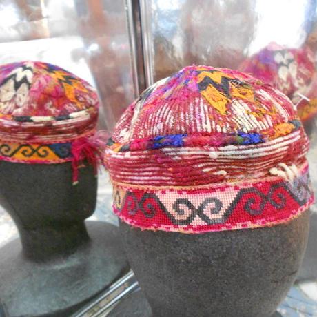 ウズベキスタン ウズベク族UZBEK WOMEN'S CAP48 刺繍女性用帽子48h11cm