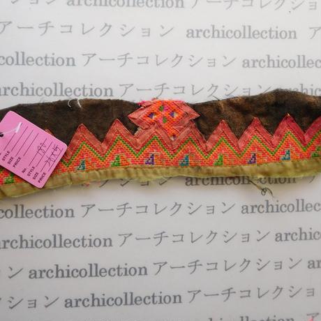 Hmong モン族 はぎれno.180  26x5 cm 刺繍布 古布 山岳民族 hilltribe ラオス タイ