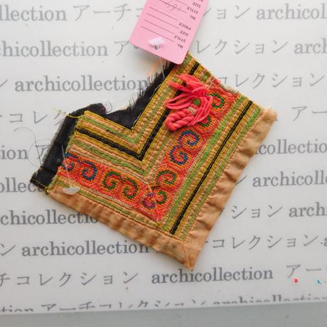Hmong モン族 はぎれno.164  14x7 cm 刺繍布 古布 山岳民族 hilltribe ラオス タイ