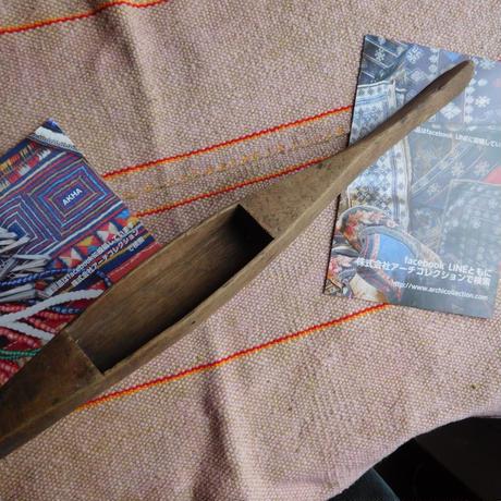 織り 織機 シャトル 杼 使用可 ストアーズno.20  70 g  全長42.5巾3.3高2.5 内径長8.7巾2.6深2cm shuttle 木製 オールド