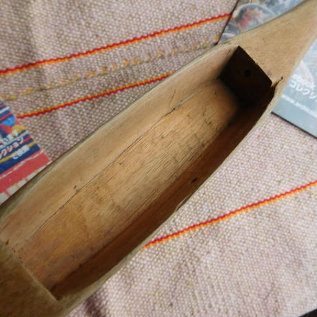 織り 織機 シャトル 杼 使用可 ストアーズno.9  70 g  全長43巾3.0高2.2 内径長9.3巾2.8深1.9cm shuttle 木製 オールド