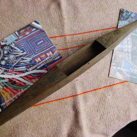 織り 織機 シャトル 杼 使用可 ストアーズno.17 90 g  全長47巾3.1高2.4 内径長8巾2.5深1.7cm shuttle 木製 オールド