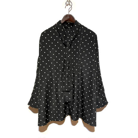 "CAERULA""dotdeshin 2way blouse""(black) women's"
