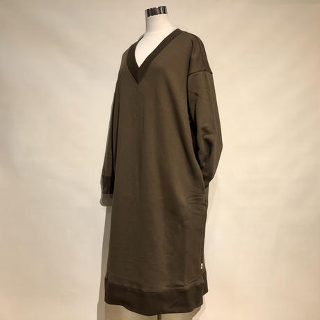 "amne ""reverse fleece dress"" (khaki) women's"