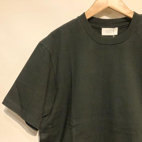 "FLISTFIA""crew neck T-shirts""(bottle green) unisex"