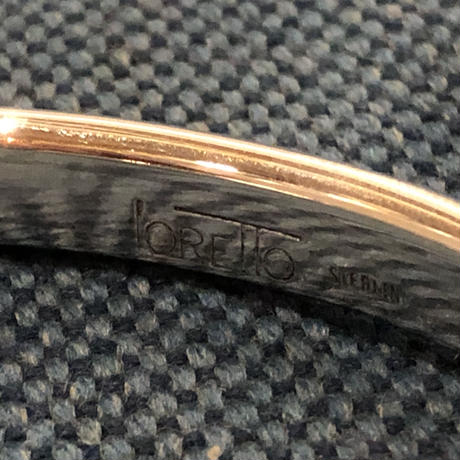 "indian jewelry ""Larry Loretto(zuni)""tq inlay bangle"