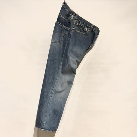 """KNIFEWING""""USA501 remake buck cut wide pants""""(A) women's"""