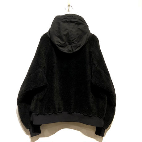 "H.UNIT ""backsatin boa fleece"" (black) unisex"