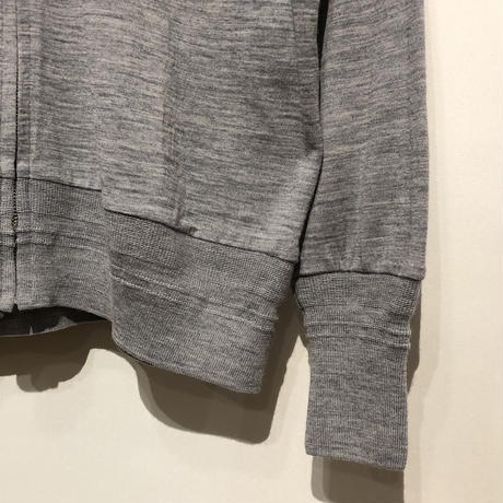 "FLISTFIA""washable wool zip cardigan""(light gray) unisex"