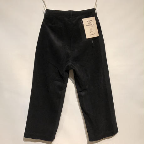 "H.UNIT ""corduroy crown size trousers""(black)unisex"