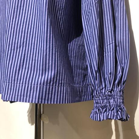 "TigreBrocante""london stripe shirring blouse""(navy)women's"