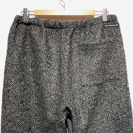 "TigreBrocante""italy dobby wool tagosaku long pants""(charcoal)unisex"