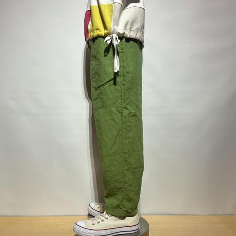 "TigreBrocante""high density linen Tagosaku Pants""(matcha)unisex"