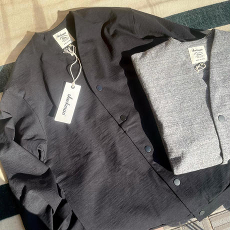 """Jackman""""Stretch Owners Cardigan""""(charcoal)unisex"""