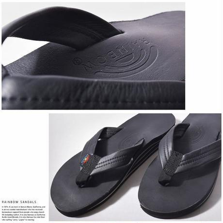 "RAINBOW SANDALS ""classic leather double mid sole""(black) men's"