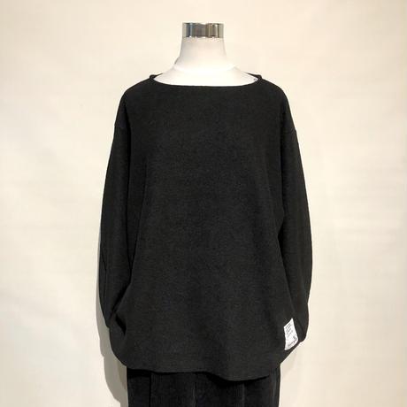 """H.UNIT """"boiled wool cutoff basque shirts"""" (black) unisex"""