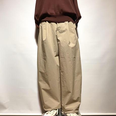 "ASEEDONCLOUD""Handwerker compact cloth wide trousers"" (beige) women's"