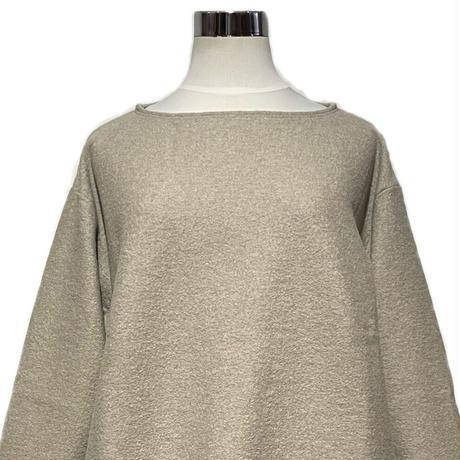"H.UNIT ""boiled wool cut off basque shirts"" (lt.beige) unisex"