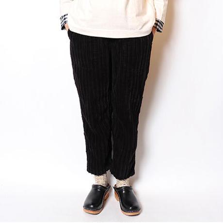 "TigreBrocante""slant corduroy tagosaku long pants""(black)unisex"
