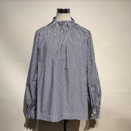 "TigreBrocante""london stripe shirring blouse""(kinari)women's"