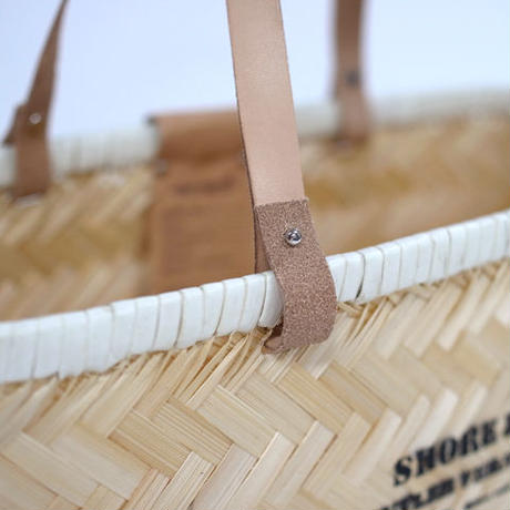 "Butler Verner Sails ""bamboo×leather market basket""  (S)"