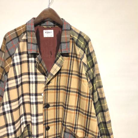 "H.UNIT ""shaggy check clazy raglan atelie coat"" (crazy) unisex"