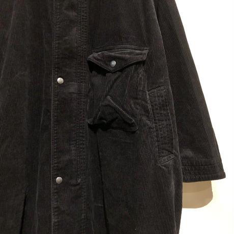 """H.UNIT """"corduroy gascape coat"""" (black) unisex"""