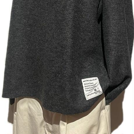"H.UNIT ""boiled wool cut off basque shirts"" (gray) unisex"
