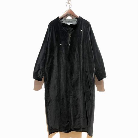 "Slow Hands ""chalk stripe  gown coat""(black)unisex"