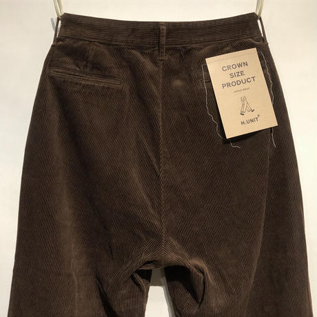 "H.UNIT ""corduroy crown size trousers""(brown)unisex"