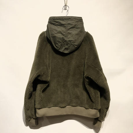 "H.UNIT ""backsatin boa fleece"" (khaki) unisex"