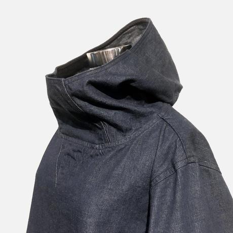 "TigreBrocante""highneck hood shirts""(indigo)unisex"