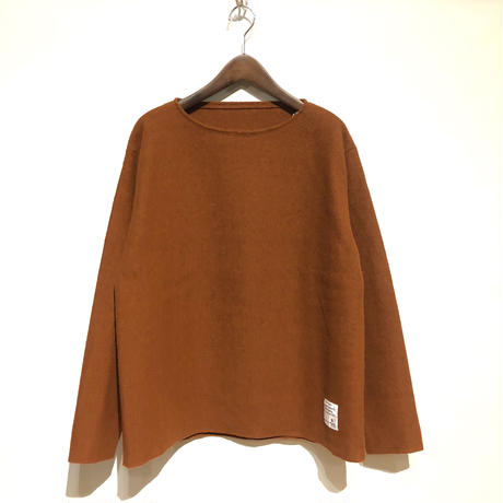 "H.UNIT ""boiled wool cutoff basque shirts"" (kakiiro) unisex"