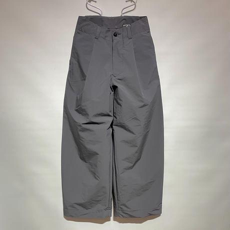 "ASEEDONCLOUD""Handwerker compact cloth wide trousers"" (dark gary) women's"