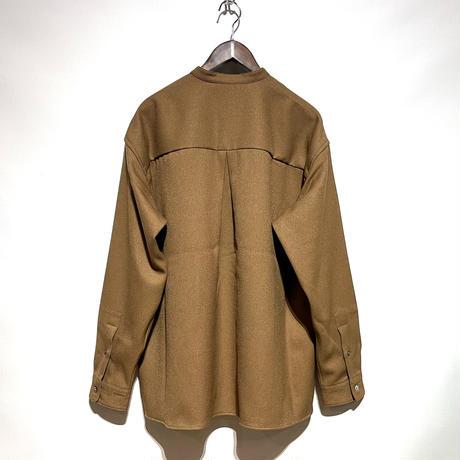 "amne ""KERSEY""covered shirts (umber) unisex"