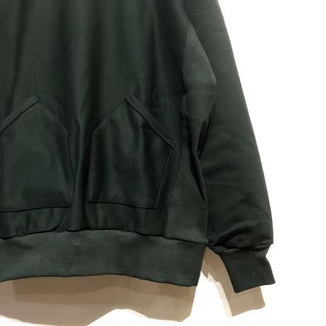 "FLISTFIA""vintage side rib hooded""(dk green) unisex"